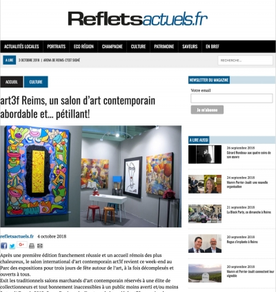 """art3f Reims, un salon d'art contemporain abordable et… pétillant!"""