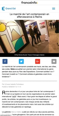 Second article sur le site de France 3 Grand Est