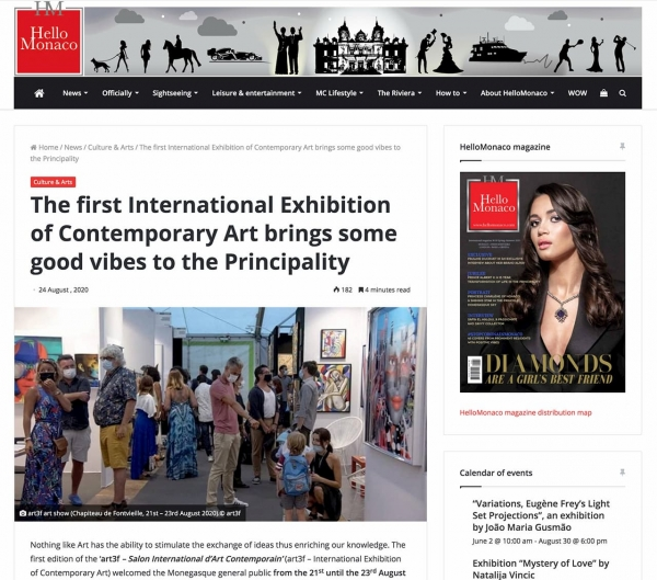 """The first International Exhibition of Contemporary Art brings some good vibes to the Principality"" (Hello Monaco)"