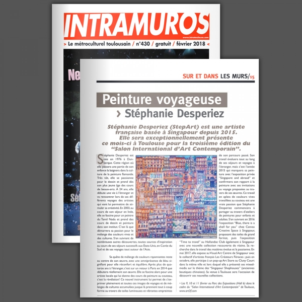 Article dans « Intramuros » Toulouse