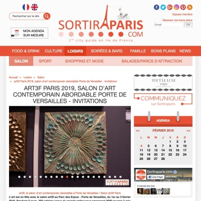 ART3F PARIS 2019, SALON D'ART CONTEMPORAIN ABORDABLE PORTE DE VERSAILLES