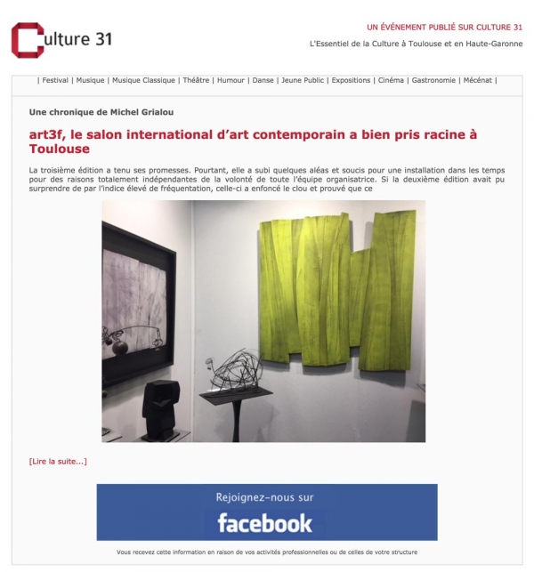 Art3f publications toulouse for Salon international d art contemporain toulouse