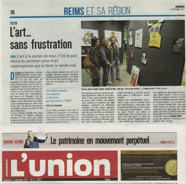 Second article dans L'union