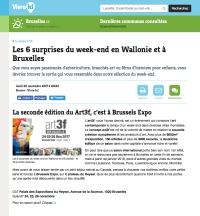 « Les 6 surprises du week end en Wallonie et à Bruxelles »