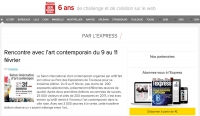 Article sur le site de l'Express