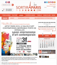 "SortirAParis.com, ""LE SALON D'ART CONTEMPORAIN ABORDABLE PORTE DE VERSAILLES"""